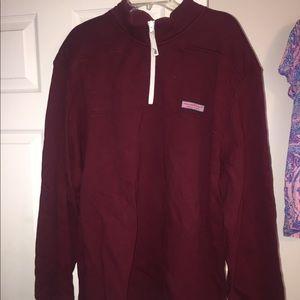 Men's xxl vineyard vines maroon shep shirt